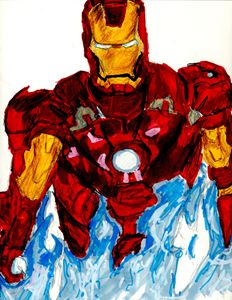 Iron Man Blue Fire