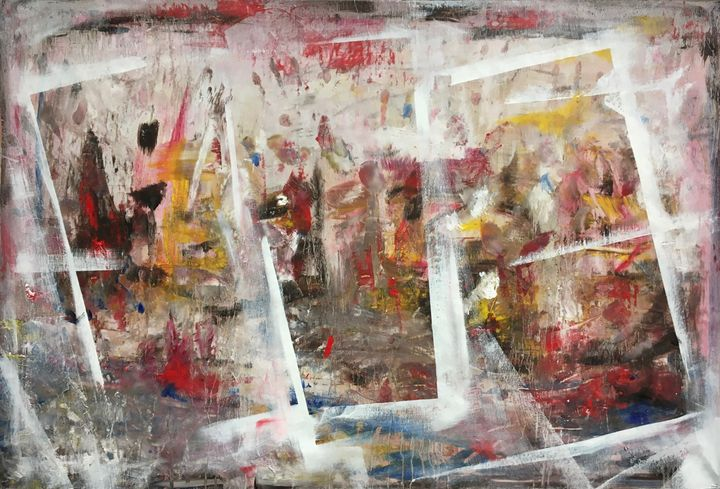 Abstract Triptych-lookalike - Jonathan Aclechter