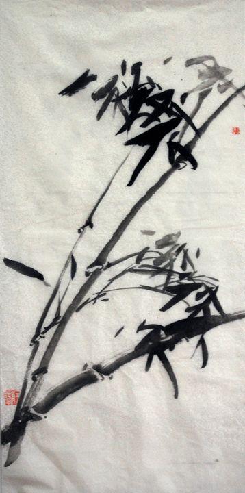 bamboo - Suhui  Chinese paiting