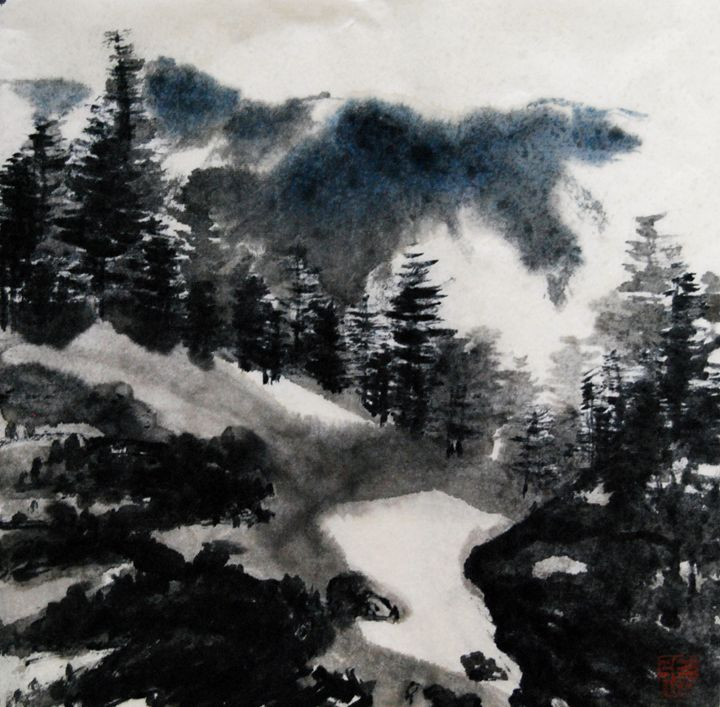 the moutain - Suhui  Chinese paiting