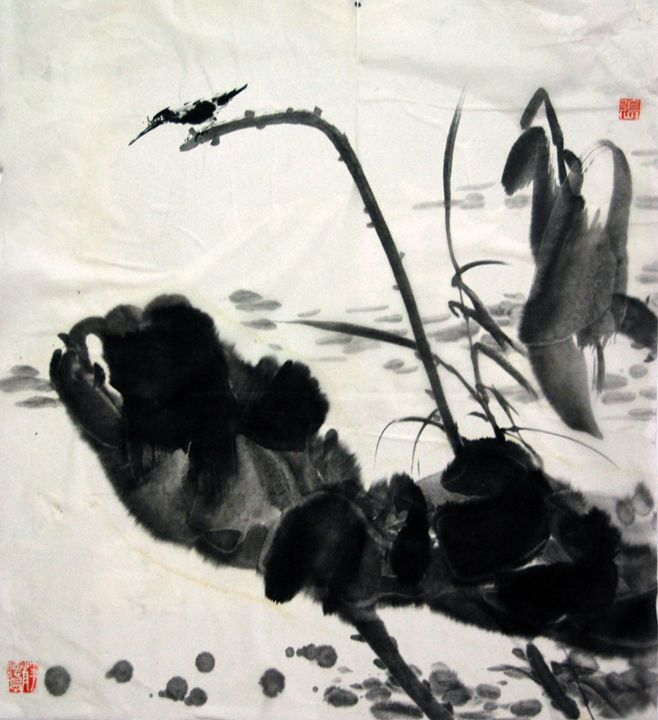 lotus - Suhui  Chinese paiting