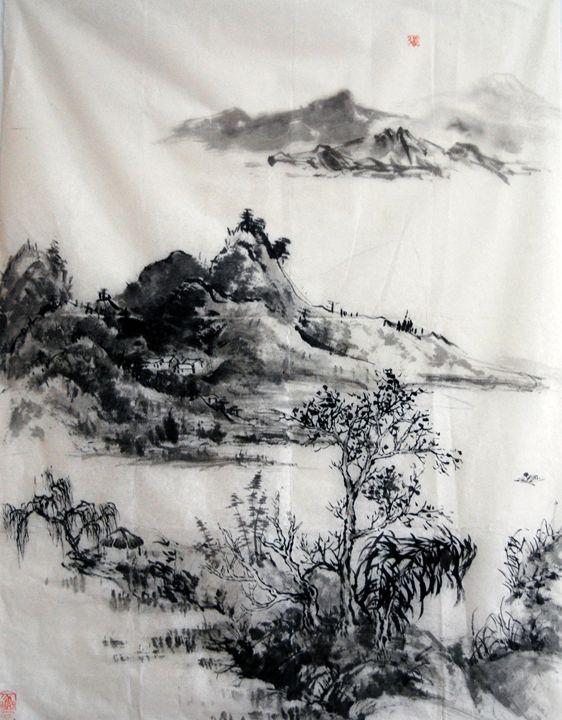 mounatin - Suhui  Chinese paiting