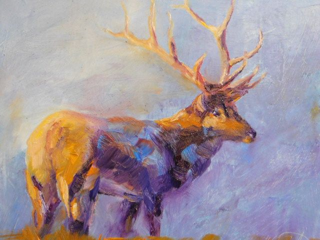 Elk - mstanish painting and sculpture