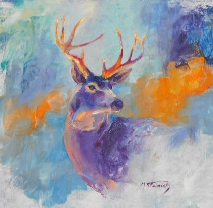 Mule Deer - mstanish painting and sculpture