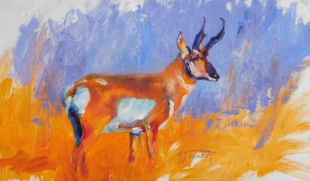 Pronghorn - mstanish painting and sculpture
