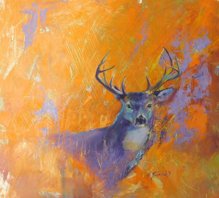 White Tail Deer - mstanish painting and sculpture