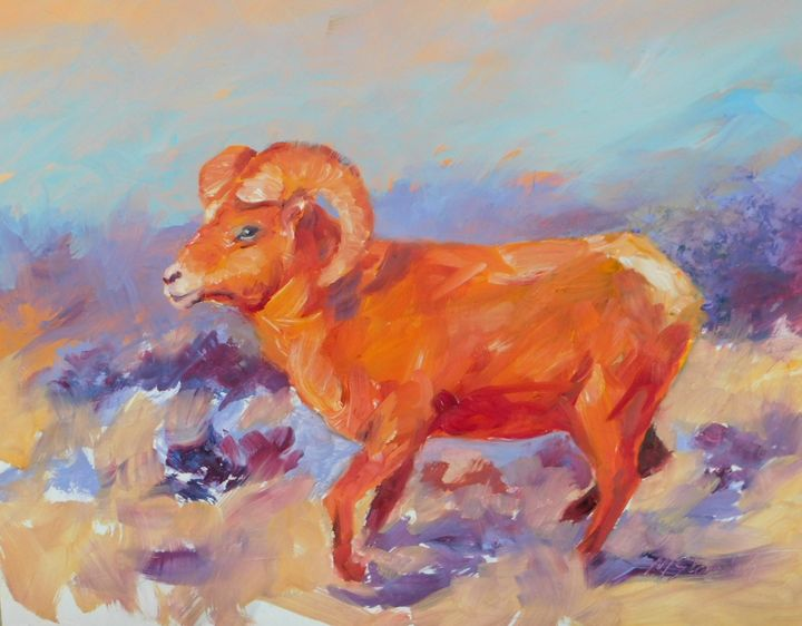 Mountain Sheep - mstanish painting and sculpture