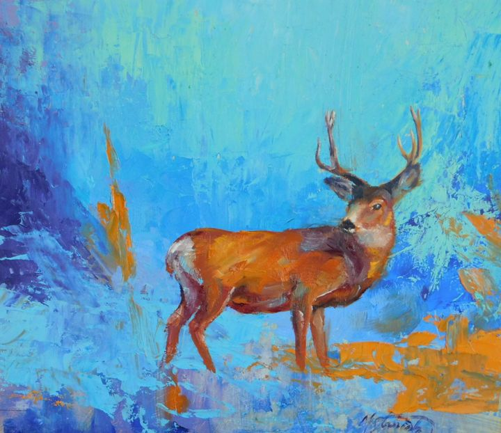 Deer - mstanish painting and sculpture