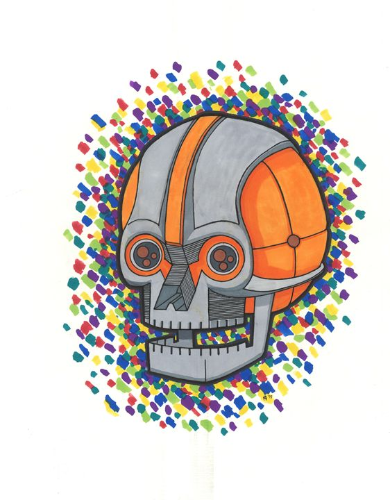 Robot Skull - eyeheartslayer