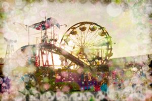The Fair. Wheel At Sunset. #9 - Nan Mac
