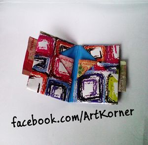 Handmade origami Paper Card holder - Art Korner
