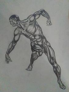 Dynamic Pose Study Leonardo Prekratic Drawings Illustration People Figures Male Form Nude Semi Nude Artpal