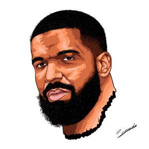 Drake digital portrait