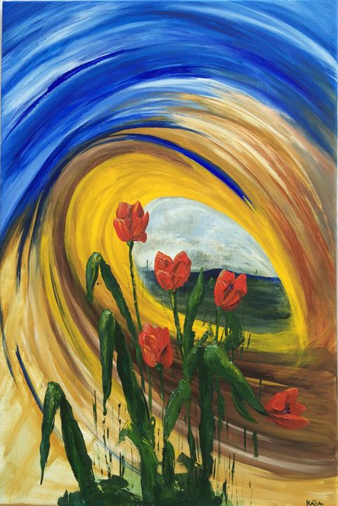 Whirlwind Tulips (B014) - KATIA-ART