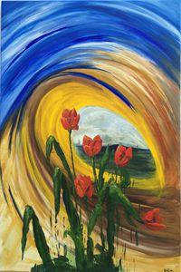 Whirlwind Tulips (B014)