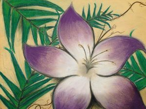 Flower With Simple Leafs - Sara J Tanner