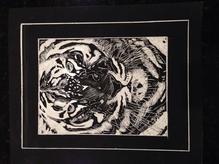 Scratch Board White Tiger - Sara J Tanner