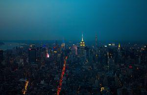 Downtown To Midtown Manhattan