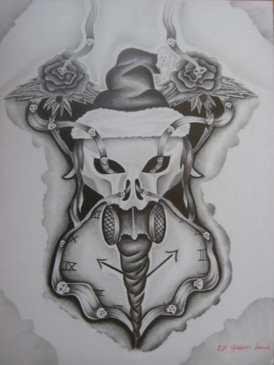 Skull Christmas - Jason's Art
