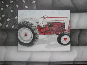 OLD FORD POWERMASTER TRACTOR - Jason's Art