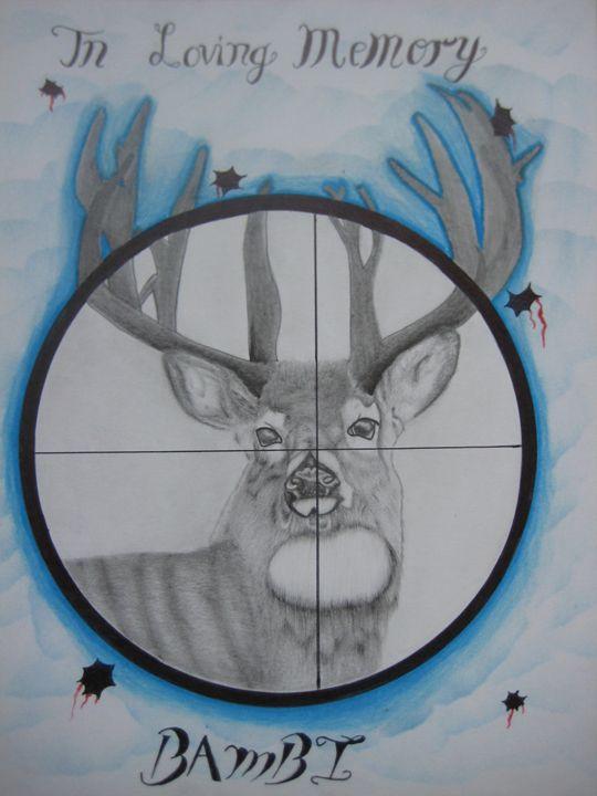 DEER ON TARGET - Jason's Art