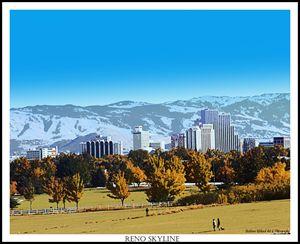 Reno Skyline Poster Print - Bobbee Rickard Art & Photography