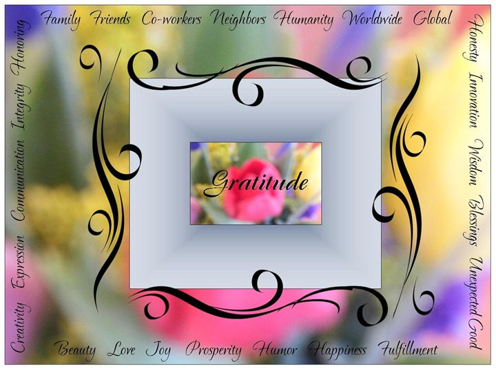 Gratitude Inspirational Art - Bobbee Rickard Art & Photography