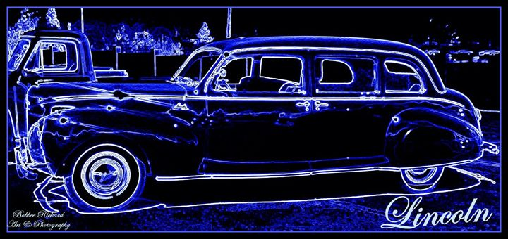 Sideview 41 Lincoln Limousine - Bobbee Rickard Art & Photography