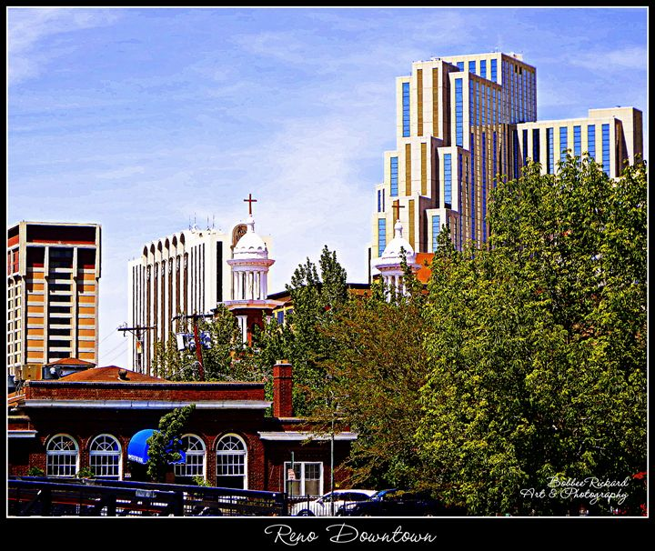 Reno Downtown View Poster/Print - Bobbee Rickard Art & Photography