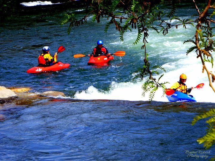 Kayaking on the River - Bobbee Rickard Art & Photography
