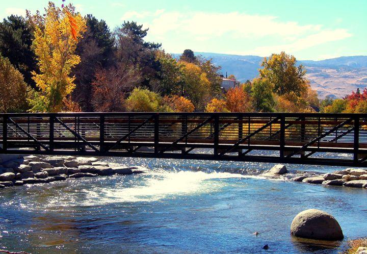 Reno Downtown Riverwalk Bridge - Bobbee Rickard Art & Photography