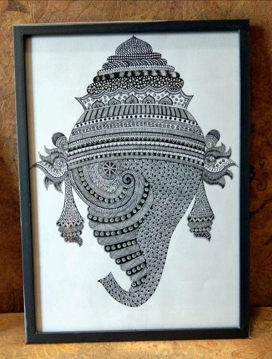 Mandala art with GANESHA - ART BY ARCHANA