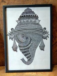 Mandala art with GANESHA