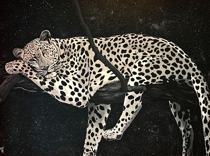 Leapard at night - Zach Barty Art
