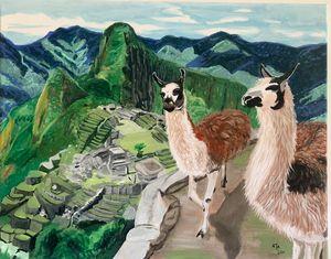 Llama and the great Machu Picchu