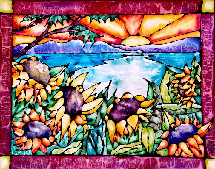 Summer Sunflowers Watercolor - Hazy Moon Studios