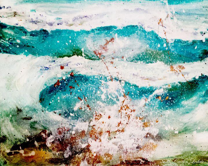 Abstract Waves Splatter - Hazy Moon Studios