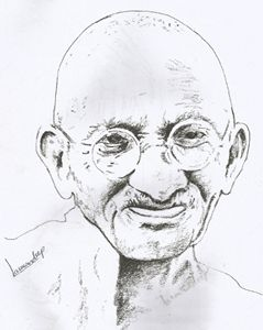 mahatma gandhi sketch