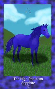 The High Priestess- Unicorn Crystal