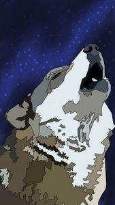Howling Wolf- Geometric