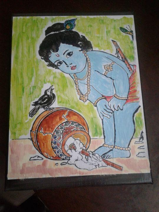 Bala Kannan Acrylic Painting - JD Crafts and Designs
