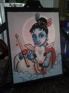 Krishnan Acrylic painting