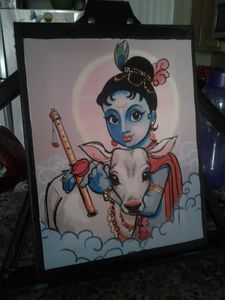 Krishnan Acrylic painting - JD Crafts and Designs
