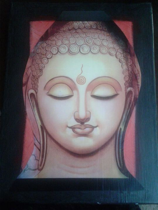 Buddha Acrylic Painting on Canvas - JD Crafts and Designs