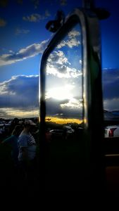'69 Ford Truck Mirror Picture of Sky