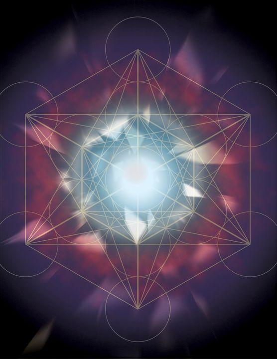 Metatron's cube - Bzowy Design