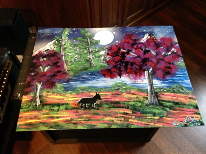 Woodland. - Spray Paintings by Lorena