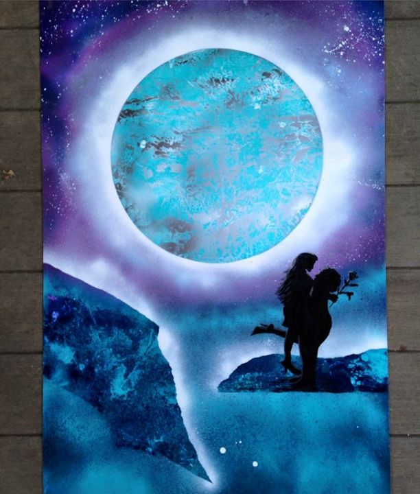 Couple. - Spray Paintings by Lorena