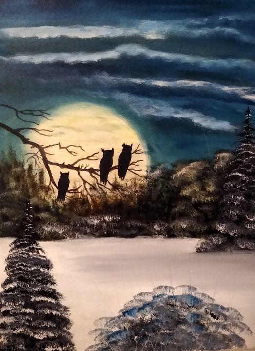 The Night Owl's - Paolino's Art Studio