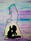 Beauty & The Beast Oil Painting